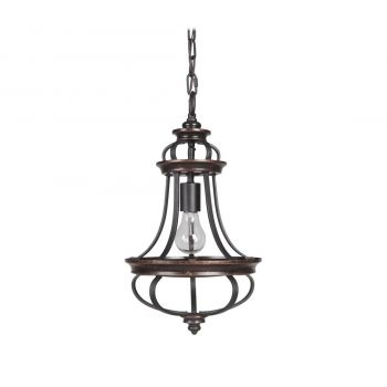 Craftmade Stafford Mini Pendant Light in Aged Bronze/Textured Black