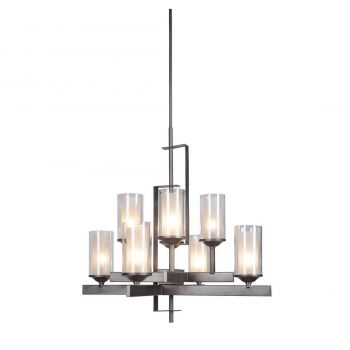 """Craftmade Mod 30"""" 8-Light Chandelier in Natural Iron & Vintage Iron"""