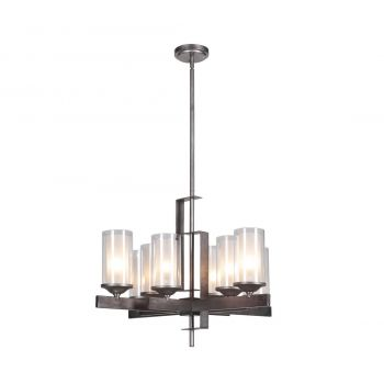 Craftmade Mod 8-Light Chandelier in Natural Iron & Vintage Iron