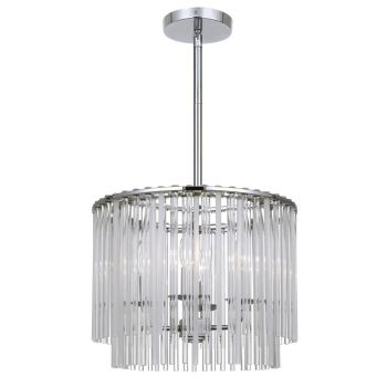 Crystorama Bleecker 4-Light Polished Chandelier in Chrome