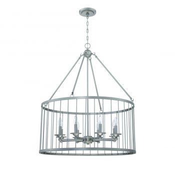 """Craftmade Villa 8-Light 30"""" Pendant Light in Satin Nickel"""