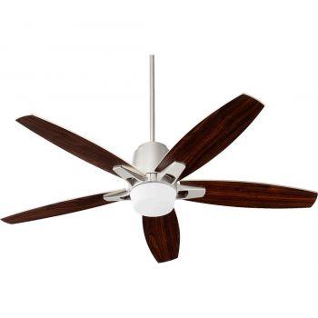 """Quorum International Metro 52"""" Indoor Ceiling Fan in Satin Nickel"""
