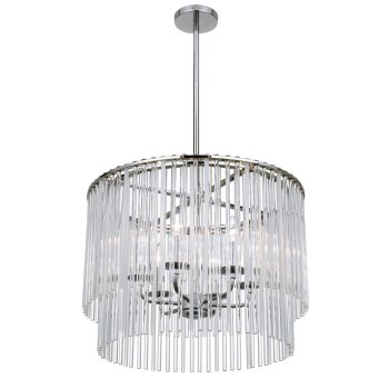 Crystorama Bleecker 6-Light Polished Chandelier in Chrome