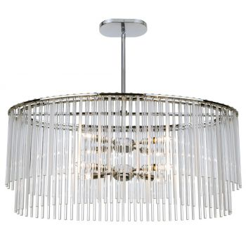 Crystorama Bleecker 8-Light Polished Chandelier in Chrome