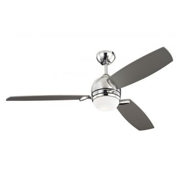 "Monte Carlo 52"" Muirfield Ceiling Fan in Polished Nickel"