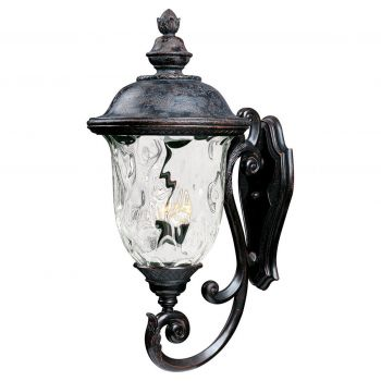 """Maxim Carriage House 31"""" 3-Light Outdoor Wall Mount in Oriental Bronze"""