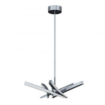 """Craftmade Aura 39"""" 5-Light LED Chandelier in Chrome"""