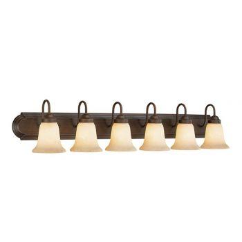 Millennium Lighting 4000 Series 6-Light Bathroom Vanity Light in Rubbed Bronze
