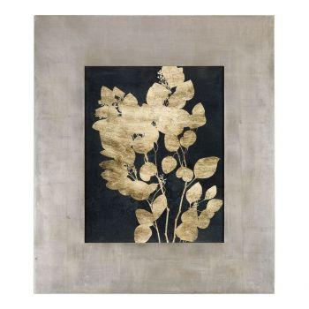Uttermost Custom Postage Leaves Gold Foil Print in Gold Leaf Frame