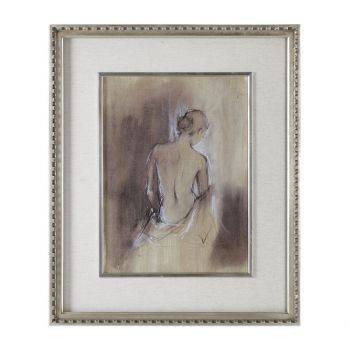 Uttermost Contemporary Draped Figure Art in Silver Champagne Frame