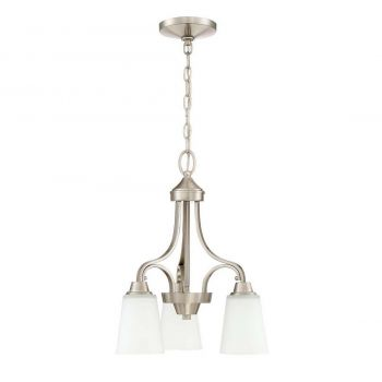 Craftmade Grace 3-Light Down Chandelier in Brushed Polished Nickel