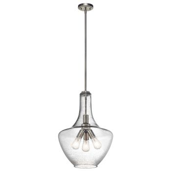 Kichler Everly 3-Light Pendant in Brushed Nickel