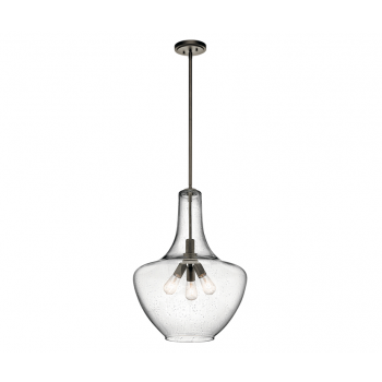 "Kichler Everly 3-Light 27"" Pendant in Olde Bronze"
