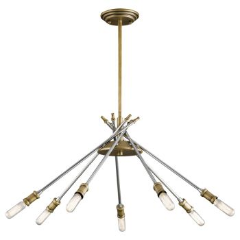 """Kichler Doncaster 23.75"""" 7-Light Chandelier in Natural Brass"""