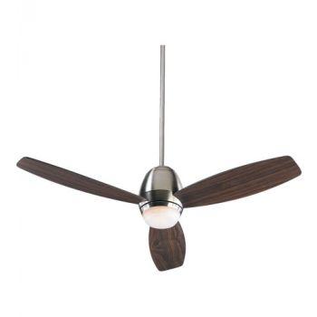 "Quorum Bronx 52"" 3-Blade Ceiling Fan in Satin Nickel"