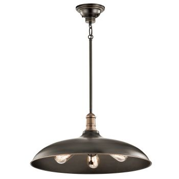 Kichler Cobson 3-Light Pendant in Olde Bronze