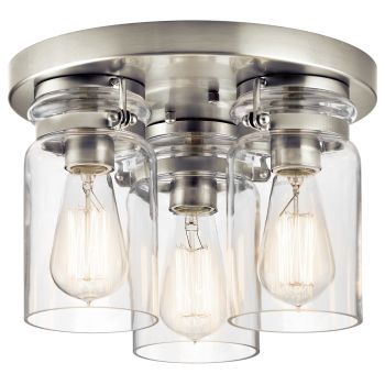 Kichler Brinley 3-Light Ceiling Light in Brushed Nickel