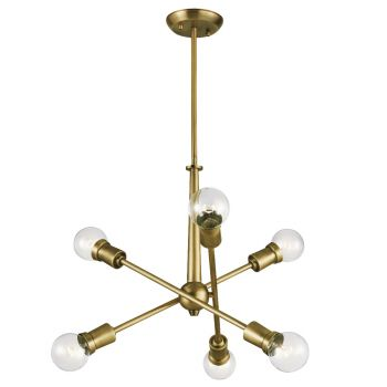 Kichler Armstrong Chandelier 6-Light in Natural Brass