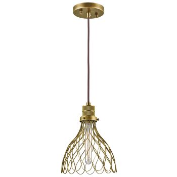 Kichler Devin Mini Pendant in Natural Brass