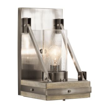 Kichler Colerne 1-Light Wall Sconce in Classic Pewter
