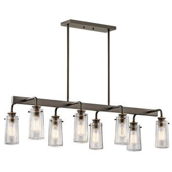 Kichler Braelyn 8-Light Chandelier Linear in Olde Bronze