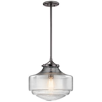 "Kichler Keller 15"" Pendant in Shadow Nickel"