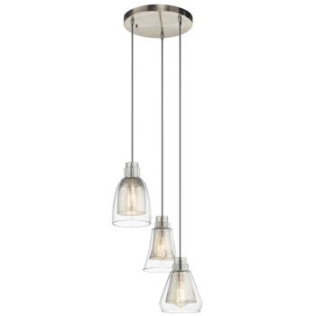 Kichler Evie 3-Light Pendant in Brushed Nickel