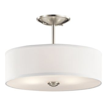 Kichler Shailene 3-Light Ceiling Light in Brushed Nickel