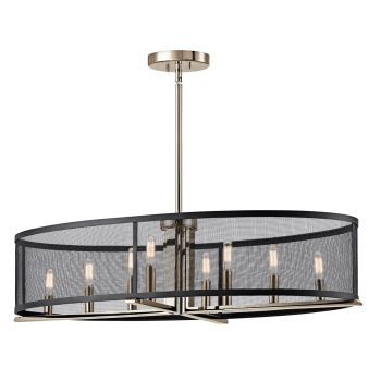 Kichler Titus 8-Light Oval Chandelier in Polished Nickel