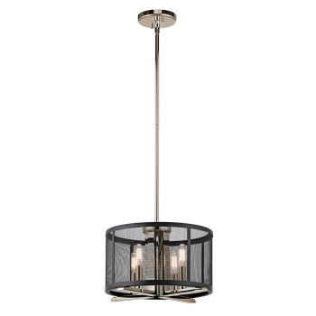Kichler Titus 4-Light Pendant/Semi Flush in Polished Nickel