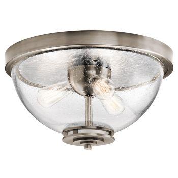 Kichler Silberne 3-Light Flush Mount in Classic Pewter
