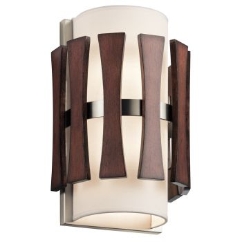 Kichler Cirus 2-Light Wall Sconce in Auburn Stained
