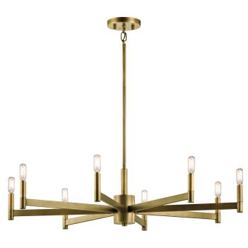 Kichler Erzo 8-Light Large Chandelier in Natural Brass