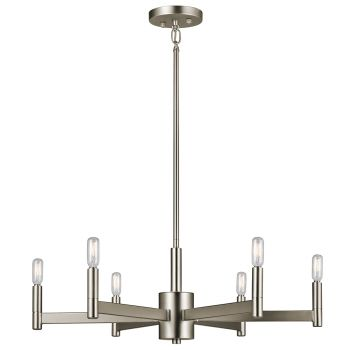 Kichler 43859SN Erzo 6-Light Medium Chandelier in Satin Nickel