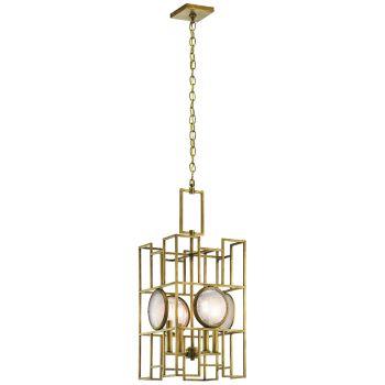 Kichler Vance 4-Light Foyer Pendant in Natural Brass