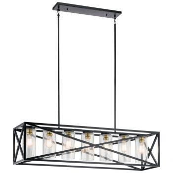 Kichler Moorgate Linear Chandelier 7-Light in Black