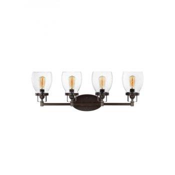 Pierpoint 4-Light Bathroom Vanity Light in Heirloom Bronze