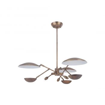 "Craftmade Pavilion 29.5"" 3-Light LED Chandelier in Patina Aged Brass"