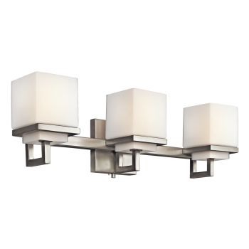 Kichler Metro Park 3-Light Bath Wall Mount in Brushed Nickel