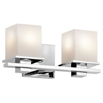 Kichler Tully 2-Light Bath Wall Mount in Chrome