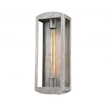 "ELK Trenton 17"" Outdoor Wall Light in Silvery Ash"