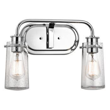 Kichler Braelyn 2-Light Bathroom Vanity Light in Chrome