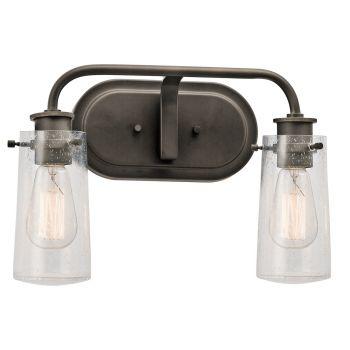 Kichler Braelyn 2-Light Bathroom Vanity Light in Olde Bronze