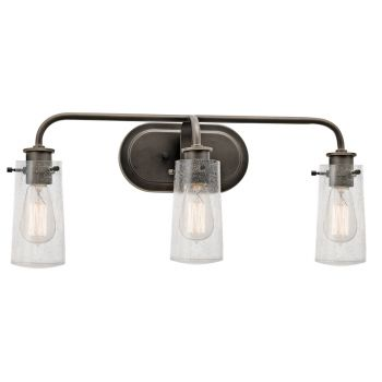 Kichler Braelyn 3-Light Bathroom Vanity Light in Olde Bronze