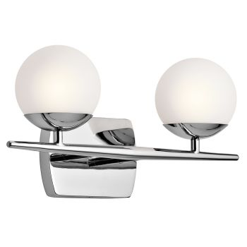 Kichler Jasper 2-Light 2-Arm Bath Vanity in Chrome