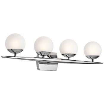 Kichler Jasper 4-Light Bathroom Vanity Light in Chrome