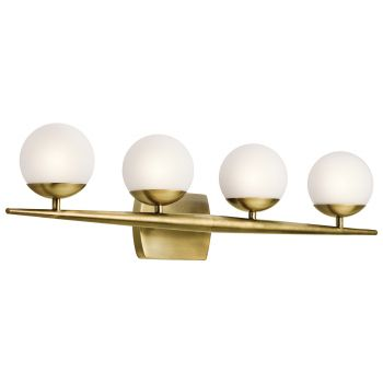 Kichler Jasper 4-Light 4-Arm Bathroom Vanity Light in Natural Brass