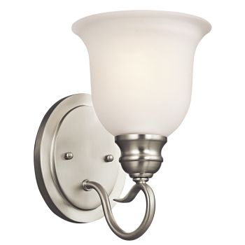 """Kichler Tanglewood 1-Light 9.25"""" Wall Sconce in Brushed Nickel"""
