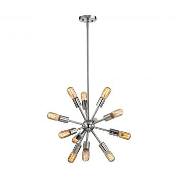 Elk Lighting Delphine 12-Light Chandelier in Polished Chrome