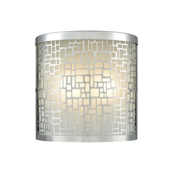 """ELK Hooper 2-Light 8"""" Outdoor Wall Light in Polished Stainless"""